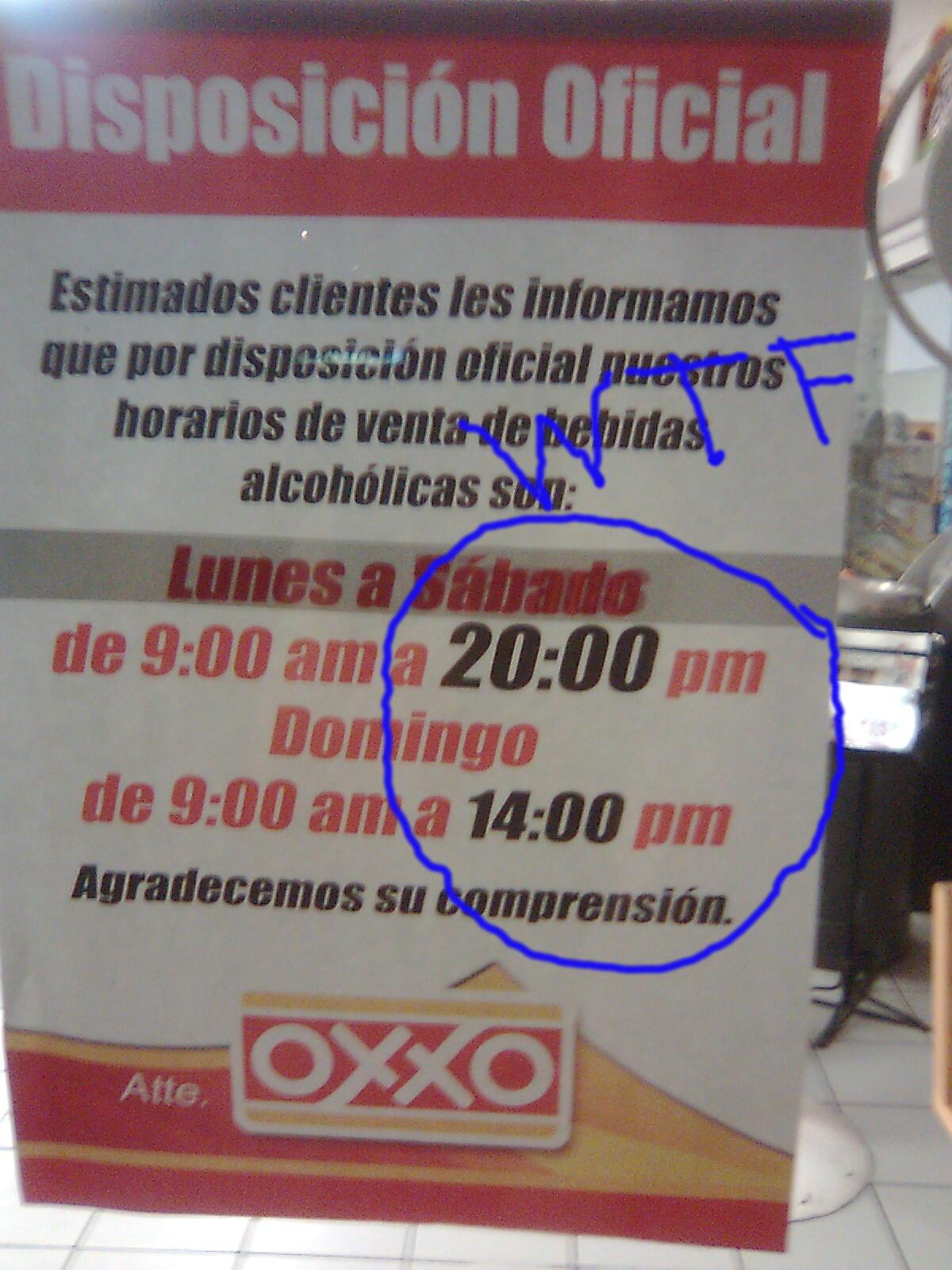 ¿Quién dice que no existen las 20:00 pm?
